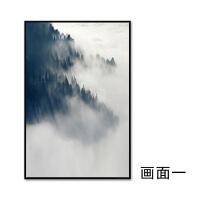 新中式禅意挂画客厅三联风景装饰画沙发背景墙画现代简约组合壁画SN8840 70*100 单幅价格拍成套请分别加购物车