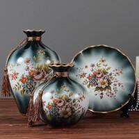 陶瓷装饰盘欧式家居饰品客厅工艺品花瓶摆件盘子