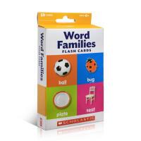 Scholastic出版 英文原版 Flash Cards: Word Families盒装宝宝家庭教育亲子玩具家庭和