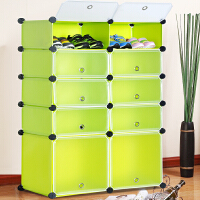 索尔诺树脂防尘简易鞋柜 多功能组合鞋架 索尔诺塑料树脂MXJ4510