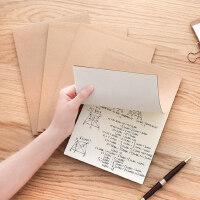 ins风简约牛皮32k笔记本加厚小清新个性创意复古空白记事本学生读书随身文具练习本a4本子手绘草稿本办公用品