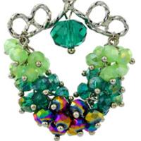 绿色挂耳个性耳饰耳环女气质长款925银钩手工耳坠