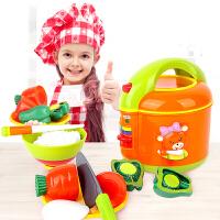 儿童过家家玩具仿真厨房电饭煲角色扮演切切乐宝宝玩具