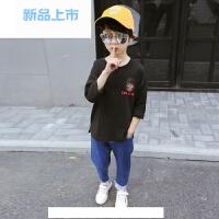 男童长袖t恤 儿童春装2018新款纯棉韩版体恤 童装男孩打底上衣潮