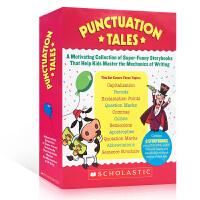 英文原版 Scholastic Punctuation Tales 8册盒装+家长手册 标点符号 趣味认知故事集 si