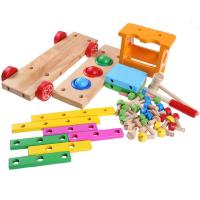 儿童螺母车打桩台打球车敲球车拆装工具车玩具