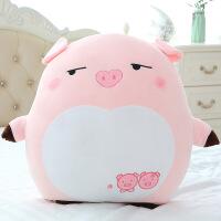 创意猪年吉祥物表情猪公仔毛绒玩具萌可爱粉色小猪靠枕礼物送女生(关注优先发货) 粉色点点眼款 60cm