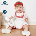 【满150减70/满300减150】迷你巴拉巴拉婴儿夏季连体衣水手短袖夏装宝宝三角衣男童女童哈衣