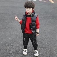 童装男童冬装套装2018新款儿童秋冬加绒2洋气3三件套4小孩衣服5岁
