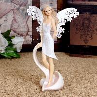 欧式天使摆件客厅装饰品摆件创意礼品结婚礼物婚庆天使树脂摆件65