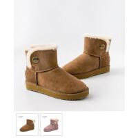 雪地靴女2018新款学生防滑保暖平底靴子女羊皮毛一体棉靴女冬加绒