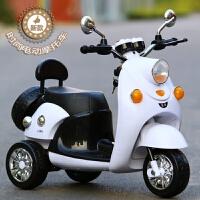 儿童电动车摩托车三轮车可坐1-6岁男女宝宝婴儿小孩玩具电瓶童车 大款早教粉+小电瓶+