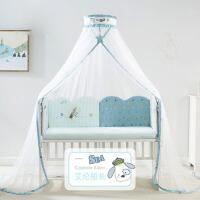 可升降带支架蚊帐罩通用婴儿床蚊帐儿童宝宝蚊帐落地式