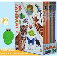 【全店抢300减100】DK动物知识百科图解 DK The Animal Box 精装10册礼盒装 赠4G的U盘 内含测