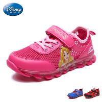 迪士尼Disney童鞋新款单网运动鞋男童女童网布鞋网眼鞋发光灯鞋 DS2268