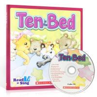 英文原版 Read and Sing:ten in the Bed 附原版CD 锻炼英语发音 学乐出版 启蒙早教儿童英