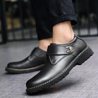 DAZED CONFUSED春秋新款 男士休闲皮鞋 时尚英伦风格正装商务皮鞋厚底增高鞋