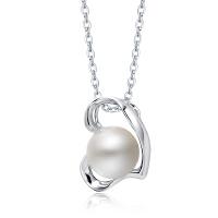 周大福 心形925银镶珍珠吊坠AQ32584>>定价