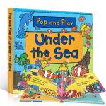 英文原版 儿童绘本 Pop and Play Under the Sea 一起玩一起学 STEM科普立体书 边玩边学