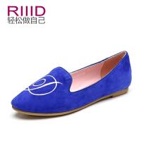 RIIID女鞋 春夏季浅口羊皮磨砂单鞋