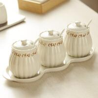 创意欧式厨房调味罐套装调味瓶套装调料罐套装三件套装