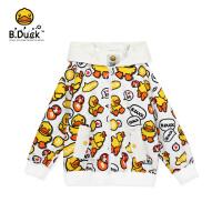 【3折价:134.7】B.duck小黄鸭童装儿童外套男童2020春新款中大童时尚女孩连帽夹克BF1111902