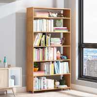 简易书架置物架落地客厅儿童多层学生小书柜办公室实木收纳架桌上