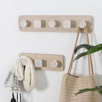 北欧风简约现代木质挂衣钩创意挂钩墙壁衣帽架壁挂玄关墙上装饰品