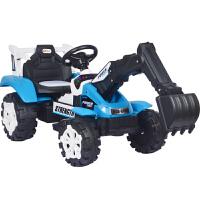 四轮充电工程车2-8岁遥控挖掘机可坐可骑男孩电动儿童玩具