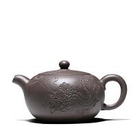 宜兴紫砂茶壶功夫茶具青灰段龙珠壶全手工泡茶功夫茶具礼品