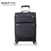 卡拉羊拉杆箱男 商务20/24�挤浪�牛津布行李箱飞机轮旅行密码软箱子CX8505