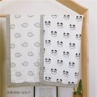 宝宝夏季盖毯新生儿包被抱毯八层纱布竹纤维毯子婴儿空调房小被子M