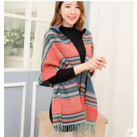 韩国版秋冬季波西米亚大围巾女保暖加厚围脖披肩