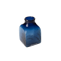 玻璃花瓶摆件 客厅装饰摆件干花插花 简约现代手工小花瓶小方瓶