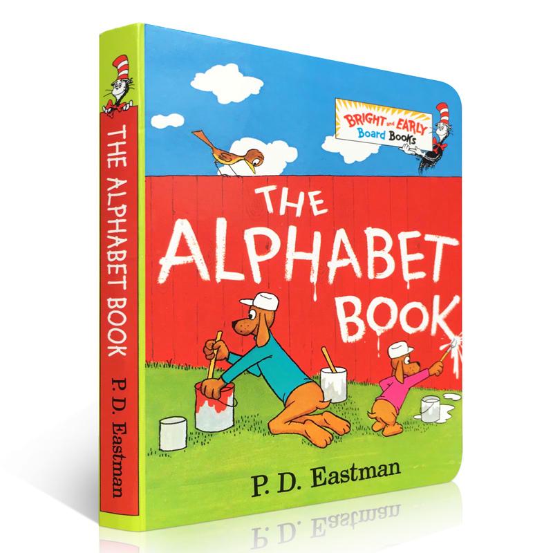 英文原版绘本 The Alphabet Book 字母表 纸板书 Bright and Early Board 苏斯博士 Dr. Seuss启蒙儿童学习英语图画童书低幼适龄版