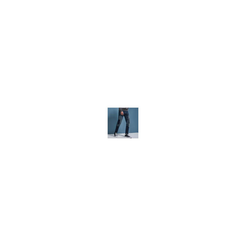 七匹狼旗下圣沃斯系列牛仔裤男士时尚潮流牛仔裤秋季修身五袋款9.18-9.22满199-80