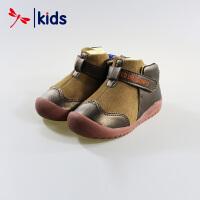 红蜻蜓童鞋男童小童宝宝冬季保暖防滑机能鞋