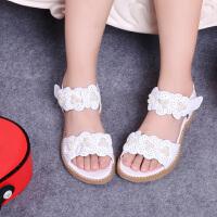女童凉鞋夏新款女童凉鞋 公主鞋花朵中小童宝宝童鞋学生