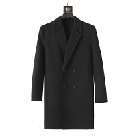 羊绒羊毛妮子大衣 修身毛呢男士 中长款双面尼 季外套