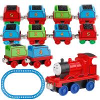 托马斯小火车头玩具套装组合合金回力磁性迷你男孩儿童拖马斯模型 1只车头+10只车厢 (套装)