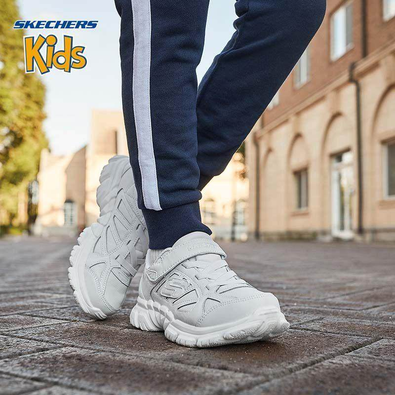 Skechers斯凯奇官方正品男女儿童软底透气小白鞋运动鞋 998095L 尺码偏大;请参照内长或询问客服