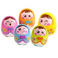 汇乐 点头不倒翁娃娃 摇晃有铃声可爱 婴幼儿宝宝早教益智玩具0-1岁