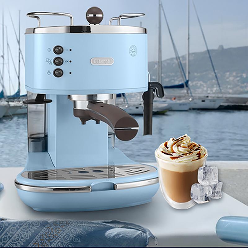 Delonghi/德龙 ECO310 半自动咖啡机意式泵压式家用不锈钢(海洋蓝) 半自动咖啡机意式泵压式家用不锈钢