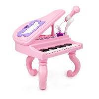 儿童钢琴玩具宝宝电子琴键初学者女孩礼物3-6-12岁带话筒音乐乐器