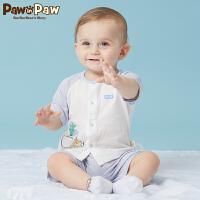 【3件3折 到手价:77】Pawinpaw卡通小熊童装夏款男女宝宝套装婴幼儿上衣裤子两件套
