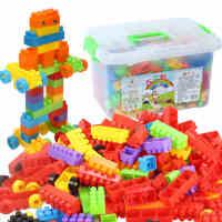 儿童颗粒塑料拼搭益智装插积木1-2男女孩宝宝3-6周岁玩具