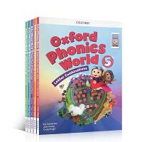新版含APP 英文原版 Oxford Phonics World 1-2-3-4-5册 牛津少儿英语自然拼读 phonics 发音教材 幼儿英语启蒙训练教材 零基础入门字母发音教材