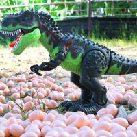 电动恐龙走路下蛋霸王龙仿真动物模型男孩儿童玩具