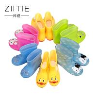 童鞋儿童雨鞋男女卡通防滑水鞋中筒大童四季雨靴雨具宝宝鞋