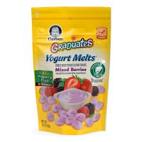 美国GERBER嘉宝混合水果酸奶小溶溶豆28g 进口宝宝婴儿零酸奶溶豆